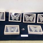 切り絵の蝶たち
